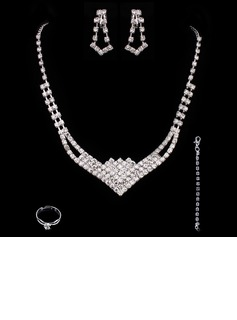 Elegant Alloy With Rhinestone Ladies' Jewelry Sets (011005491)