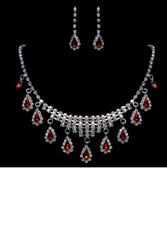 Gorgeous Alloy/Rhinestones Ladies' Jewelry Sets (011015980)