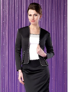 Long Sleeve Satin Special Occasion Wrap (013024279)