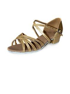 Frauen Kinder Lackleder Sandalen Flache Schuhe Latin Tanzschuhe (053013158)
