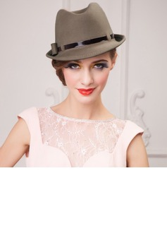 Ladies' Glamourous Autumn/Winter Wool With Bowler/Cloche Hat (196075438)
