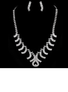 Elegant Alloy With Rhinestone Ladies' Jewelry Sets (011005475)