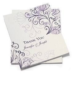 Personalized Floral Design Thank You Cards (Set of 50) (118032208)