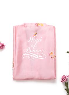 personnalisé charmeuse la mariée Demoiselle d'honneur Maman Demoiselle d'honneur junior Robes Florales Robes Brodées (248199948)