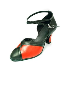 Women's Real Leather Heels Pumps Modern Dance Shoes (053013256)