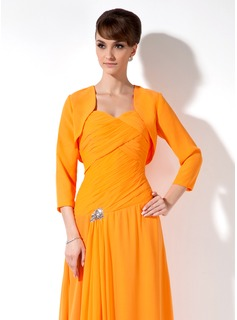 3/4-Length Sleeve Chiffon Special Occasion Wrap (013012556)