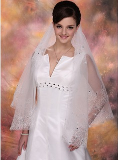 One-tier Waltz Bridal Veils With Cut Edge (006020347)