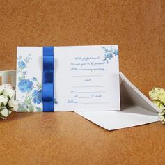 klassisk stil Enkla kort Invitation Cards med Färgband (Sats om 50) (114030747)