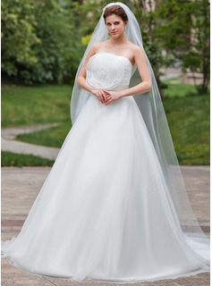 One-tier Pencil Edge Chapel Bridal Veils (006026312)