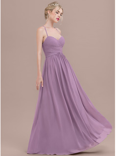 A-Line/Princess Sweetheart Floor-Length Chiffon Evening Dress With Ruffle (017124653)