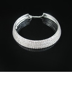 Five Rows Alloy With Rhinestone Ladies' Necklaces (011028972)
