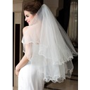 Two-tier Fingertip Bridal Veils With Scalloped Edge (006036607)