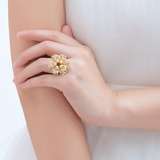 Exquisiten Kupfer/Spitze mit Perle Damen Ringe (011057861)