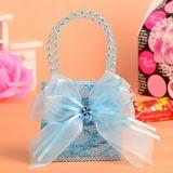 Klassische Art Handtasche geformt Vließstoff Geschenktaschen mit Bänder (Satz von 12) (050054577)