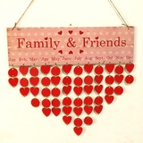 Classic/Nice/Heart Design Nice/Lovely/Pretty Wooden Wedding Ornaments (Sold in a single piece) (131178960)