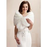Faux Fur huwelijk Wrap (013020423)