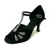 Vrouwen Sprankelende Glitter Nubuck Hakken Sandalen Latijn Ballroom met T-Riempjes Dansschoenen (053013579)