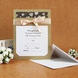 Stile classico Biglietto piatto Invitation Cards con Nastri (Set di 50) (114030774)