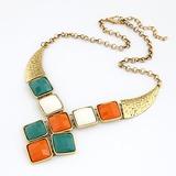 Exquisiten Legierung mit Imitation Steine Frauen Mode-Halskette (011035191)