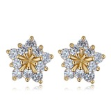 Shining Zircon Copper With Zircon Women's Fashion Earrings (137193076)