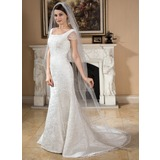 One-tier Scalloped Edge Cathedral Bridal Veils (006024549)