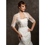 Half-Sleeve Spitze Hochzeit Bolero (013014590)