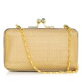 Elegant Stainless Steel With Rhinestone Clutches (012026114)