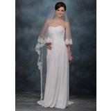 Een-rij Kathedraal Bruids Sluiers met Lace Stoffen Rand (006005766)