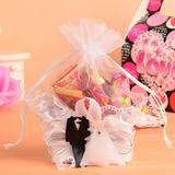 Braut u. Bräutigam Korb Geschenktaschen mit Bänder (Satz von 12) (050054575)