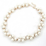 Exquisite Alloy/Pearl With Rhinestone Ladies' Necklaces (011053776)