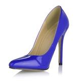 Frauen Lackleder Stöckel Absatz Absatzschuhe Geschlossene Zehe Schuhe (085053017)