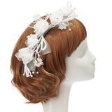 Fantasie Nachahmungen von Perlen/Kunstseide Blumen und Federn (042057563)