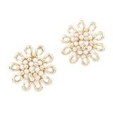 Elegante Legierung mit Perle Frauen Ohrringe (011034995)