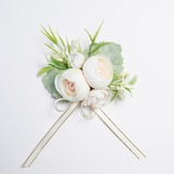 Nice Free-Form Fabric Wrist Corsage (Sold in a single piece) - (123177939)