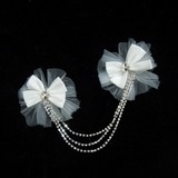 Bowknot Satin/Tulle Flowers & Feathers (042025500)