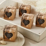 Cubic Kraft paper Favor Boxes With Linen Rope (Set of 12) (050150619)