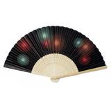 Élégante Haute qualité de papier/Bamboo Ventilateur à la main (Lot de 4) (051046515)