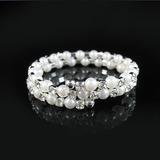 Elegant Alloy With Pearl/Rhinestone Ladies' Bracelets (011028957)