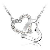 Elegant Platin überzogen mit Kristall Damen Halsketten (011053795)