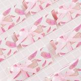 Amour doux/Créatif Triangulaire Carte papier Boites de faveur et conteneurs avec Rubans (Lot de 24) (050203434)
