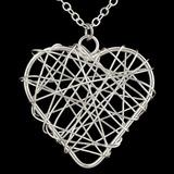Herzförmige Versilbert Frauen Mode-Halskette (137056072)