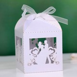 Braut u. Bräutigam Quader Geschenkboxen mit Bänder (Satz von 12) (050027008)