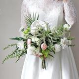 Éclosion Cascade Tissu Bouquets de mariée - (123205623)