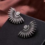Vintage Alloy Rhinestones Women's Fashion Earrings (Sold in a single piece) (137197137)