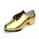 Unisex Cuero Planos Tap Zapatos de danza (053087766)