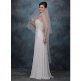 1 couche Voiles de mariée valse avec Bord festonné (006020465)