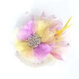 Underbara Netto garn och silke blomma/Fjäder Blommor (042016710)