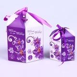 Bloemen ontwerp Bedank Doosjes met Linten (Set van 10) (050040152)