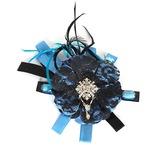 Elegante Baumwolle mit Imitation Rhinestone / Pelz Damen Blumen (042016713)