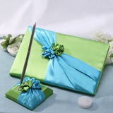 Blue and Green Guestbook & Pen Set (101037365)